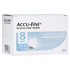 ACCU FINE sterile Nadeln f.Insulinpens 8 mm 31 G 100 Stück