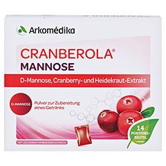 CRANBEROLA Mannose Plv.z.Her.e.Lsg.z.Einnehmen 14x4 Gramm - Vorderseite