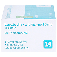 Loratadin-1A Pharma 50 Stück N2 - Linke Seite