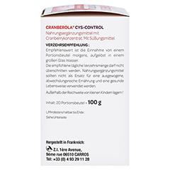 CRANBEROLA Cys Control Pulver 20x5 Gramm - Linke Seite