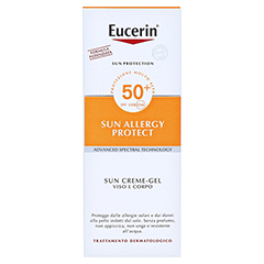 Eucerin Sun Allergy Protect Creme-Gel LSF 50 + gratis Eucerin After Sun 50 ml 150 Milliliter - Rückseite
