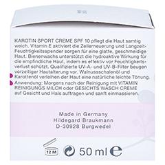 Hildegard Braukmann EMOSIE Karotin Sport Creme SPF 10 50 Milliliter - Rechte Seite