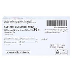H&S Hanf plus Karkade Filterbeutel 20x1.3 Gramm - Unterseite