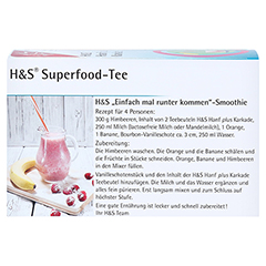 H&S Hanf plus Karkade Filterbeutel 20x1.3 Gramm - Rückseite