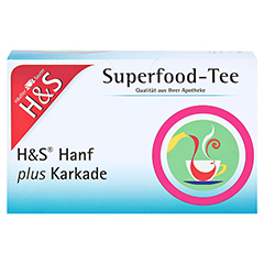 H&S Hanf plus Karkade Filterbeutel 20x1.3 Gramm - Vorderseite