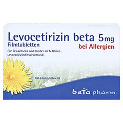 Levocetirizin beta 5mg 100 Stück N3 - Vorderseite