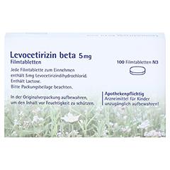 Levocetirizin beta 5mg 100 Stück N3 - Rückseite
