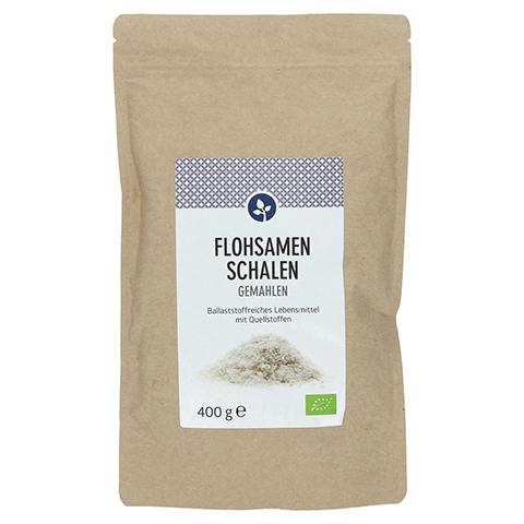 FLOHSAMENSCHALEN gemahlen Bio Pulver 400 Gramm