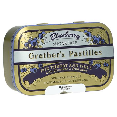 GRETHERS Blueberry zuckerfrei Pastillen 110 Gramm