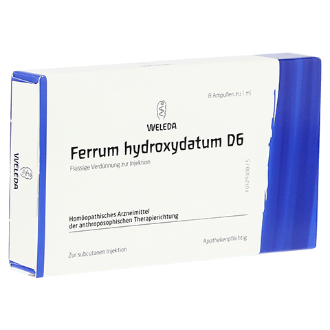 FERRUM HYDROXYDATUM D 6 Ampullen 8x1 Milliliter N1
