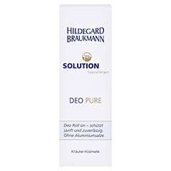 Hildegard Braukmann 24H SOLUTION Deo Pure Roll on 75 Milliliter - Vorderseite
