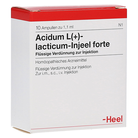 ACIDUM L-LACTICUM Injeel forte Ampullen 10 Stück N1