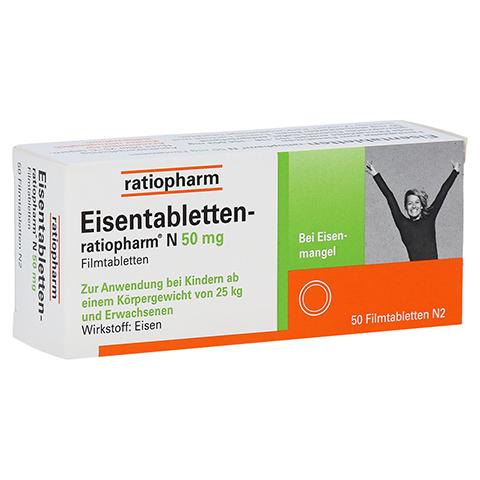Eisentabletten-ratiopharm N 50mg 50 Stück N2