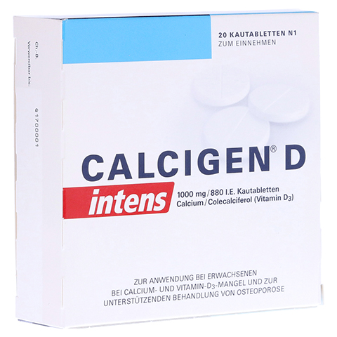 CALCIGEN D intens 1000mg/880I.E. 20 Stück N1