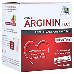 ARGININ PLUS Vitamin B1+B6+B12+Folsäure Sticks 90x5.9 Gramm