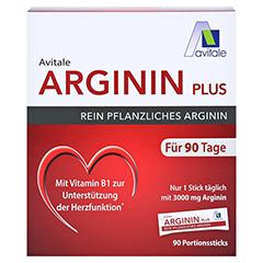 ARGININ PLUS Vitamin B1+B6+B12+Folsäure Sticks 90x5.9 Gramm - Vorderseite