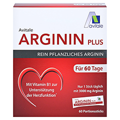ARGININ PLUS Vitamin B1+B6+B12+Folsäure Sticks 60x5.9 Gramm - Vorderseite
