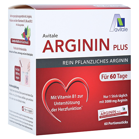 ARGININ PLUS Vitamin B1+B6+B12+Folsäure Sticks 60x5.9 Gramm