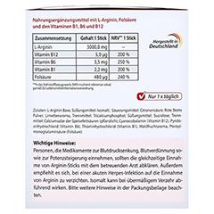 ARGININ PLUS Vitamin B1+B6+B12+Folsäure Sticks 90x5.9 Gramm - Rechte Seite