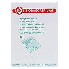NOBASORB-steril Saugkompressen 10x10 cm P1 25 Stück - Vorderseite