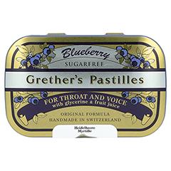 GRETHERS Blueberry zuckerfrei Pastillen 110 Gramm - Vorderseite