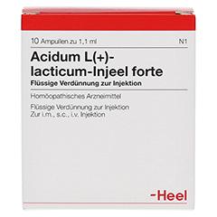 ACIDUM L-LACTICUM Injeel forte Ampullen 10 Stück N1 - Vorderseite