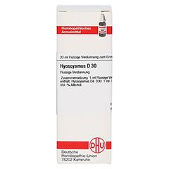 HYOSCYAMUS D 30 Dilution 20 Milliliter N1 - Vorderseite