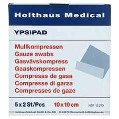 MULLKOMPRESSEN Ypsipad 10x10 cm steril 8fach 5x2 Stück - Vorderseite