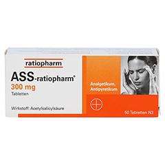 ASS-ratiopharm 300mg 50 Stück N3 - Vorderseite