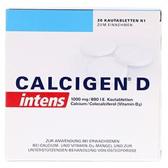 CALCIGEN D intens 1000mg/880I.E. 20 Stück N1 - Vorderseite