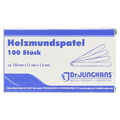 HOLZMUNDSPATEL 15 cm 100 Stück - Vorderseite