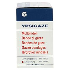 YPSIGAZE Mullbinde 6 cmx4 m 20 Stück - Linke Seite