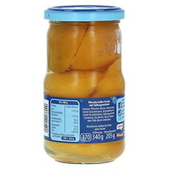 NATREEN Obstkonserve Pfirsiche halbe Frucht 370 Milliliter - Linke Seite