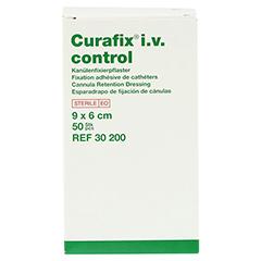 CURAFIX i.v. control Kanülenfixierpflast.6x9 cm 50 Stück - Rechte Seite