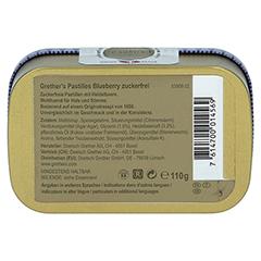 GRETHERS Blueberry zuckerfrei Pastillen 110 Gramm - Rückseite