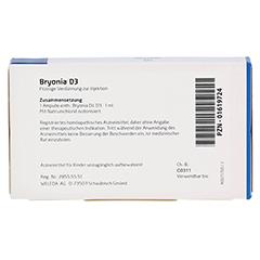 BRYONIA D 3 Ampullen 8x1 Milliliter N1 - Rückseite