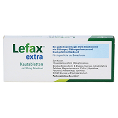 Lefax extra 20 Stück N1 - Rückseite