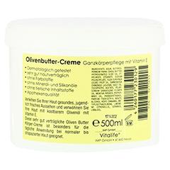 OLIVENBUTTER Creme Vit.E 500 Milliliter - Rückseite