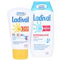 Ladival Kinder Creme LSF 50+ + gratis Ladival Empfindliche Haut Apres Lotion 200 ml 50 Milliliter