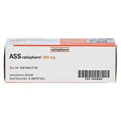 ASS-ratiopharm 300mg 50 Stück N3 - Oberseite