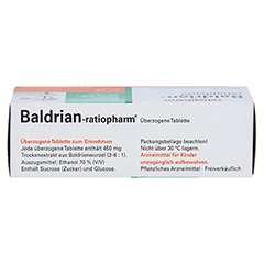 BALDRIAN RATIOPHARM überzogene Tabletten 30 Stück - Oberseite