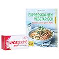 VITASPRINT B12 Trinkfläschchen + gratis Vitasprint GU Buch vegetarisch Kochen 10 Stück