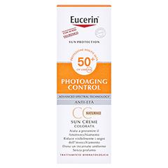 Eucerin Sun Creme getönt hell LSF 50+ + gratis Eucerin After Sun 50 ml 50 Milliliter - Rückseite