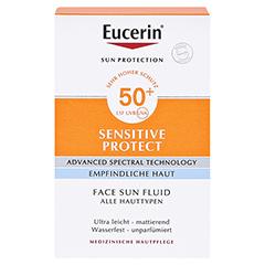 Eucerin Sun Sensitive Protect Face Fluid LSF 50+ 50 Milliliter - Vorderseite