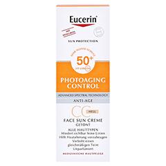 Eucerin Sun Creme getönt hell LSF 50+ + gratis Eucerin After Sun 50 ml 50 Milliliter - Vorderseite