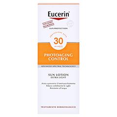 EUCERIN Sun Lotion PhotoAging Control LSF 30 + gratis Eucerin After Sun 50 ml 150 Milliliter - Rückseite