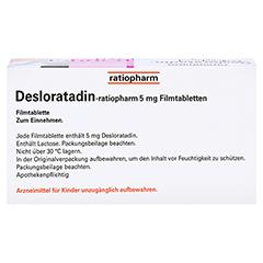 Desloratadin-ratiopharm 5mg 100 Stück N3 - Oberseite