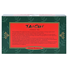 TAI CHI Energie Tee mit Ginseng Filterbeutel 20 Stück - Rückseite