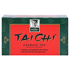 TAI CHI Energie Tee mit Ginseng Filterbeutel 20 Stück - Vorderseite