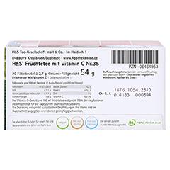 H&S Früchte mit Vitamin C Filterbeutel 20x2.7 Gramm - Unterseite